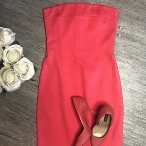 LAUNDRY by Shelli Segal Coral strapless dress